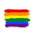 rainbow lgbt watercolor flag vector image