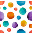 rainbow watercolor polka dot pattern bright vector image
