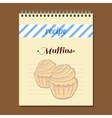 Recipe Book Muffins vector image vector image