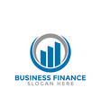 rising bar business finance consulting logo icon
