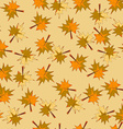 Seamless Background with Autumn Leaves Pattern vector image vector image