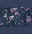 seamless pattern with drawn flowers vector image