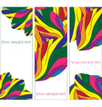 set of abstract banner vector image