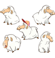 set of cute cartoon sheep vector image