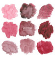 set of red watercolor background vector image vector image
