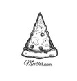 slice of pizza 4 vector image vector image