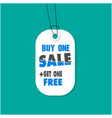 tag sale buy one sale get one free image vector image