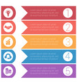 template infographics from colorful hrizontal vector image vector image
