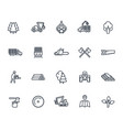 timber industry icons on white vector image