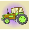 Tractor Pop art vector image