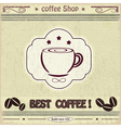 Vintage label coffee shop vector image vector image