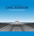 civil passenger airliner jet on runway commercial vector image