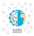 Global services concept vector image