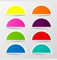 Half Circle Colorful Stickers Set Retro Empty vector image