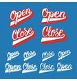 Hand drawn typography set vector image