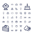 37 dessert icons vector image vector image