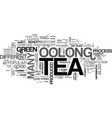 a beginners guide to oolong tea text word cloud vector image vector image