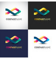 abstract 3d fish logo template for your company vector image vector image