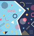 abstract trendy pattern background geometric vector image vector image