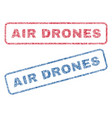 air drones textile stamps vector image vector image