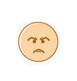 angry cartoon face negative people emotion icon vector image vector image