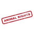 Animal Rights Text Rubber Stamp vector image