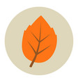 autumn leaf flat icon vector image vector image