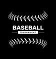 baseball lace ball isolated symbol vector image vector image