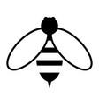 bee the black color icon vector image vector image