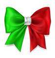 big bow in italy flag colors vector image