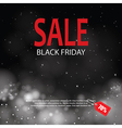black friday sale with lights bokeh background vector image vector image
