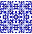 blue and white tile design vector image vector image