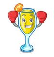 boxing mimosa character cartoon style vector image