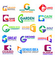 business icons letter g corporate identity vector image vector image