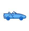 cabriolet line icon vector image
