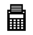cash register isolated icon vector image vector image