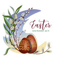celebratory easter wreath decoration with eggs and vector image vector image