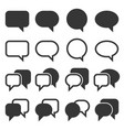 chat and speech bubble icons set on white vector image