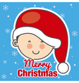 child with Santa Claus hat vector image