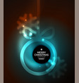 christmas baubles magic dark background vector image vector image
