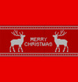 christmas knitted pattern with reindeers vector image