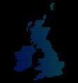 circle dot great britain and ireland map vector image