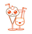 cocktail and milkshake design vector image vector image