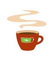 coffee cup with charging battery symbol vector image vector image