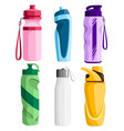 Collection sport bottles bicycle plastic