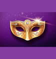 colombina golden mask decorated with diamonds vector image vector image