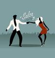 couple dancing latin music may17-02 vector image