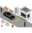 customs clearance area with security vector image