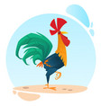 cute cartoon rooster mascot vector image