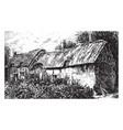 english farm house vintage vector image vector image